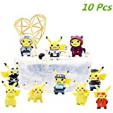 10 Pcs Pikachu Action Figures Cake Topper...