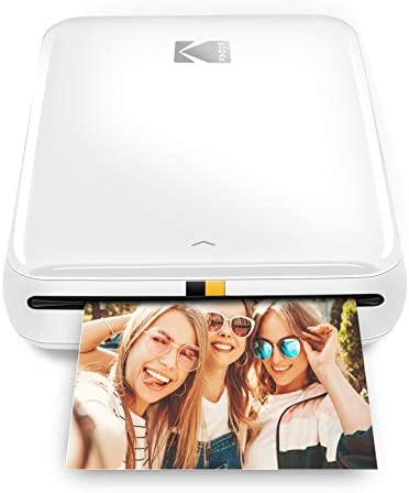 KODAK Step Wireless Mobile Photo Mini Printer White Compatible w iOS Android NFC Bluetooth Devices product image