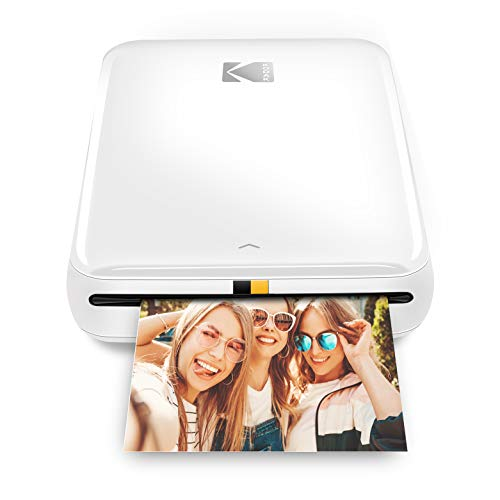 Kodak Step Wireless Mobile Photo Mini Printer (White) Compatible w/iOS & Android, NFC & Bluetooth Devices