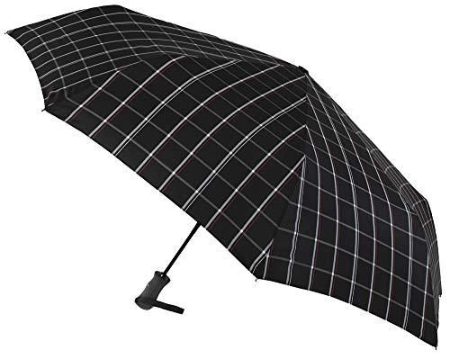 Elegante Paraguas Vogue Estampado Plegable. Golf XXL. Apertura y Cierre automático. Acabado Teflón y Sistema antiviento. (Estampado Cuadros tartán)