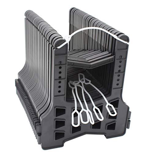 X-Haibei 15 Foot RV Sewer Hose Holder Deep Cradles Lightweight Sturdy Black Support