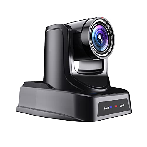 SMTAV PTZ Camera with 3G-SDI,HDMI and IP Streaming Outputs,20X + 16X Zoom,Video Conference Live Streaming Camera for Broadcast,Conference,Events,Church and School etc (20X, Camera)