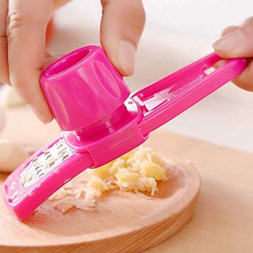 DTCFH Edelstahl Knoblauchpresse Manuelle Maschine Ingwersaft Maschine Knoblauch Chopper Mahlen Knoblauch Pfeffer Pulver Küchenwerkzeuge