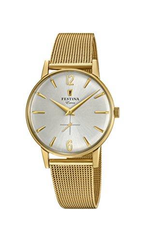 Festina Herren Analog Quarz Uhr mit Edelstahl Armband F20253/1