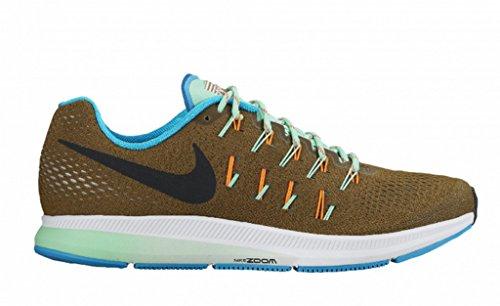 Nike Air Zoom Pegasus 33 RC Mlt Green/Blk Bl Lgn-Grn Glw (8.5)