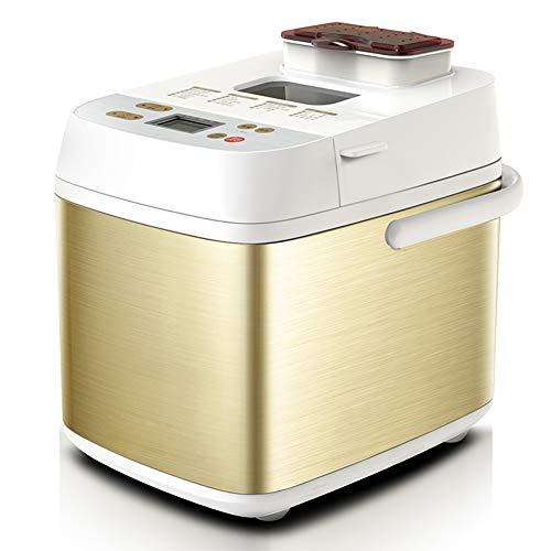 Taurusb Automatische Brotbackmaschine, intelligenter Brot-Maschine Brotbackautomat Coffee Roaster DIY Milchshake Jam Joghurt Kuchen Maker 30 Menüs 220V