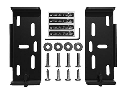 AluFixx Car schwarzmatt eloxiert Nummernschildhalter Kennzeichenhalter