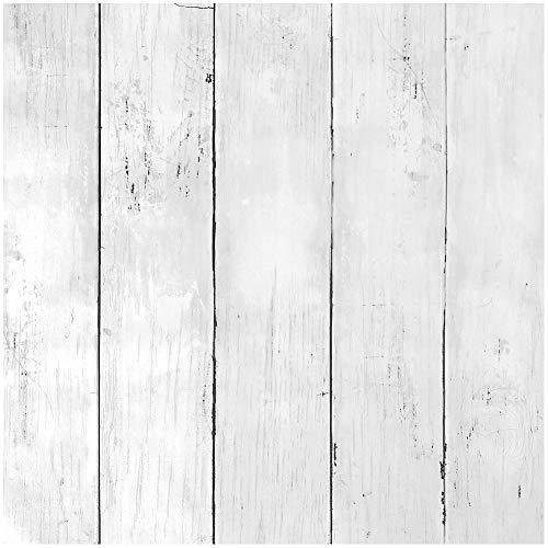 Livelynine Papel Pintado Pared Blanco 45CMX7M Friso Para Pared PVC Habitación Papel Pintado Pared Dormitorio Juvenil Matrimonio Revestimiento de Paredes Madera Vinilo Adhesivo Pared Rayas Autoadhesivo
