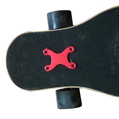 Breeezie Protective Gaskets 2 Stück Longboard und Edge Aluminium Alloy Screw Pads Deck Anti Sinking Pads mit Loch Zubehör Skateboard Teile Hardware Durable