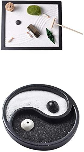 2 peças MINI JARDIM Meditação Relaxante Decoração de Casa Decoração de Mesa