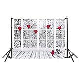 Décorations de chambre, Saint-Valentin s Day Digital Photographice Background Cloth 3D Photo Backdrops, décorations pour salon