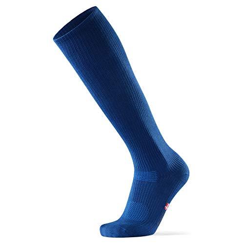 DANISH ENDURANCE Calcetines de Compresión de Algodón Orgánico Pack de 1 (Azul, EU 39-42 // UK 7-9)