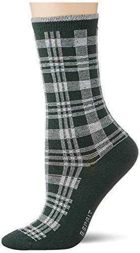 ESPRIT Damen Nopped Check W SO Socken, rot (fire Tree 7400), 35-38 (UK 2.5-5 Ι US 5-7.5)