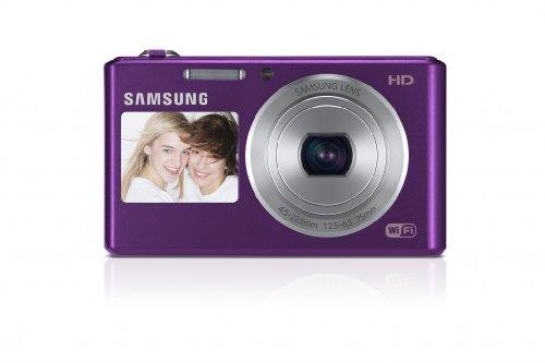 Samsung DV150F Smart-Digitalkamera (16,2 Megapixel, 5-fach opt. Zoom, 6,9 cm (2,7 Zoll) LCD-Display, bildstabilisiert, DualView, WiFi) lila