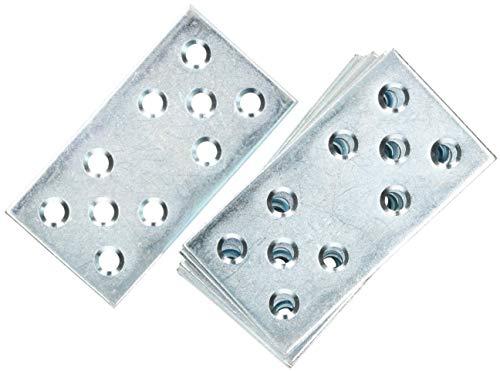 KOTARBAU Lochplatten 76 x 40 mm Verzinkt Silber Flachverbinder Holzverbinder Innen – Außenbereich Lochplatte Stahlverbinder Lochblech Flacheisen (10)