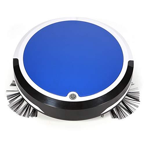 Mdsfe Aspiradora automática Robot eléctrico Trapeador Succión de Barrido Máquina de barredora de Polvo automática inalámbrica Anti-caída para Limpieza del hogar - Azul
