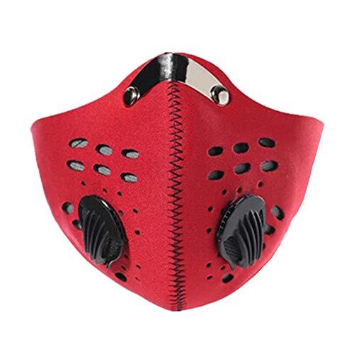 mascherina antismog bici filtri maschera antismog maschere da ciclismo maschera anti inquinamento per bici maschera antinquinamento ciclismo red,freesize