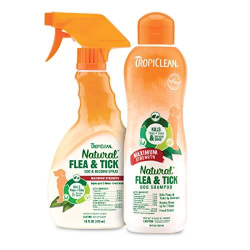 TropiClean Natural Flea & Tick Shampoo and Spray