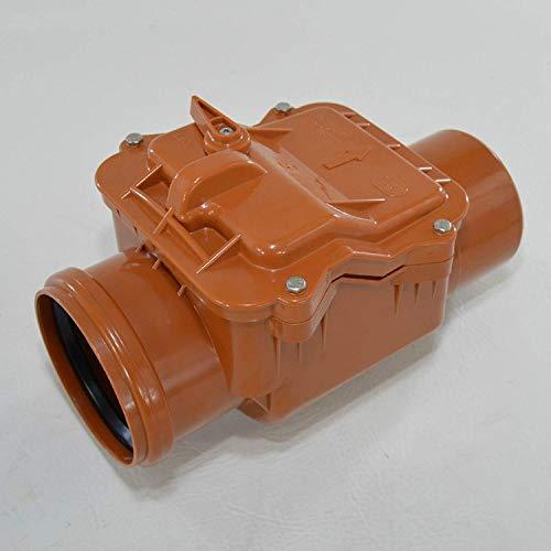 Automatische Rückstauklappe Ø 110 mm Rückstauverschluss Rattenschutz Geruchsverschluss mit einem automatischen Verschluss und Notsperre.
