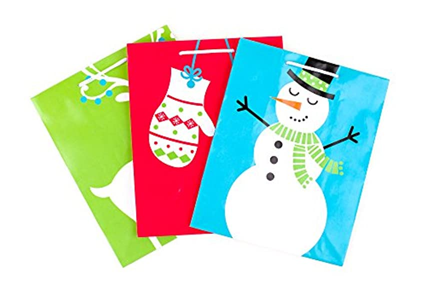 Hallmark Medium Christmas Gift Bags, Holiday Icons (Pack of 3)