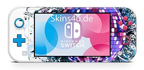 Skins4u Aufkleber Skins für Nintendo Switch Lite Konsole Decal Cover Sticker Schutzfolie Design Discokugel
