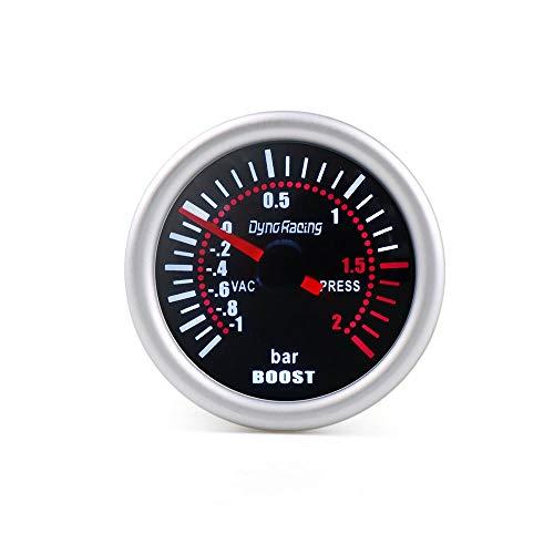 GYW-YW Dynoracing 2'medidor de Voltaje Impulso Barra de aspiración de Aceite tacómetro Lente Humo tacómetro Prensa Agua PSI 52 mm (Color : Boost Gauge Bar)