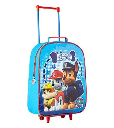 Kindertrolley für Jungen, Helfer auf vier Pfoten, Marshall, Rubble, Chase, für Reisen, Outdoor, Schule blau Paw Patrol