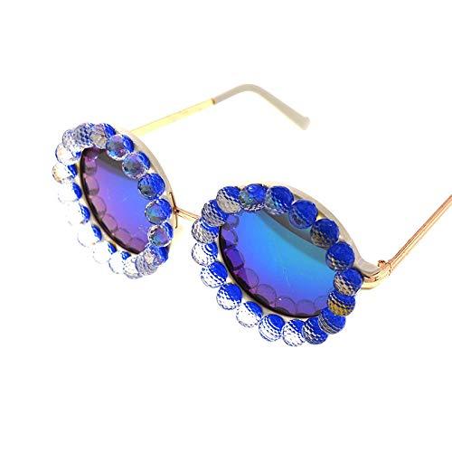 XINMAN Moda Personalidad Cristal Parasol Espejo Retro Marco Grande Gafas De Sol Reflectantes Anti-Ultravioleta para Mujer Gafas De Sol