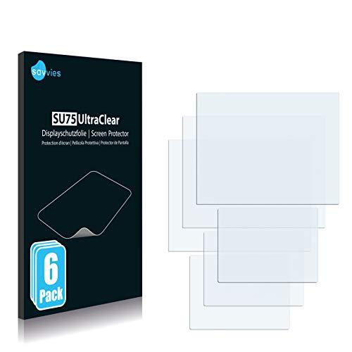 savvies Protector Pantalla Compatible con Vtech V.Smile Cyber Pocket (6 Unidades) Pelicula Ultra Transparente