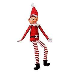 Questo adorabile peluche elfo si siede e veglia sulla tua casa a Natale. Riporta a Babbo Natale per dirgli se sei stato cattivo o carino! adatto come regalo o decorazione. Ha un morbido corpo in peluche e una testa in vinile. adatto per età 3+