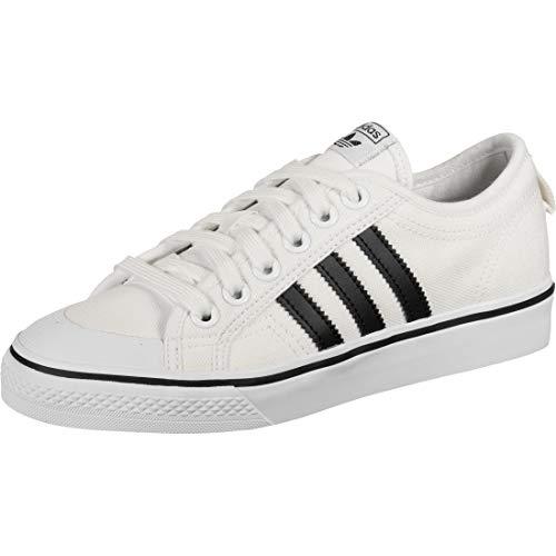 adidas Unisex Nizza Sneaker, Weiß (White/Black White/Black), 37 1/3 EU