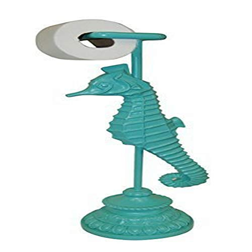 Hickory Manor House Starfish Standing Toilet Paper Holder, Cool Blue Aqua