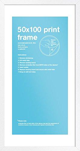 GB eye LTD - Marco MDF Blanc , 50x100cm, Blanco
