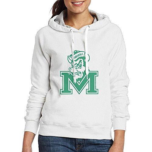 Ulysses Lennakay Woman's Marshall University Hooded Sweatshirt White-3XL
