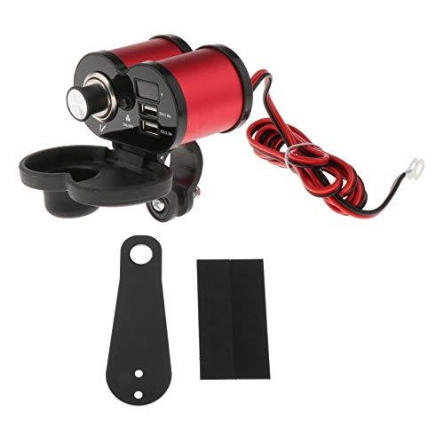 Blesiya Adaptador de Cargador USB, Motocicleta 5V / 3A Y 5V / 1.5A Adaptador de Cargador de Teléfono Impermeable