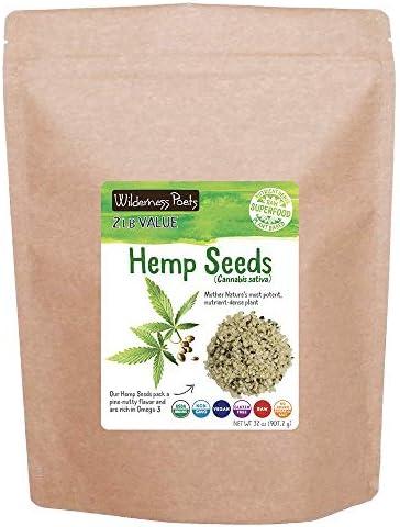Wilderness Poets Hulled Hemp Seeds Organic Raw Hemp Hearts 32 Ounce 2 Pound product image
