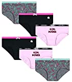 Limited Too Girls' Soft Touch Cotton Hipster Underwear Panties (6 Pack), Pink Pearl/Heather Grey/Black, Size Medium'