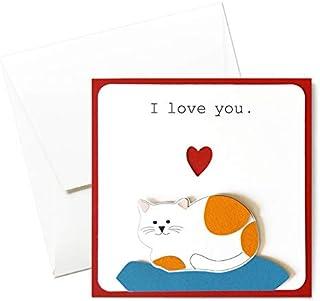 PurrPet in love - amore - festa degli innamorati - innamorati - biglietto d'auguri (formato 14 x 14 cm) - vuoto all'intern...