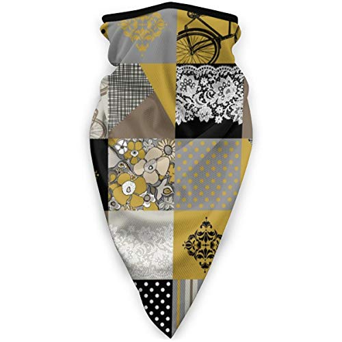 NA Magic Headwear Bohemian Patch Senf Grau Schwarz Weiß Braun Cheater Quilt Ganzkörpertuch Unisex Schal Wrap Bandana Halstuch Halstuch Gesichtsmasken