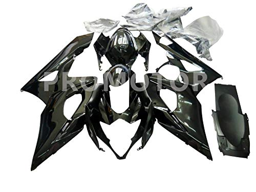 ZXMT Motorcycle Fairing Kit Vivid Black Fairings for Suzuki GSXR 1000 K5 2005 2006 (25 Pcs)