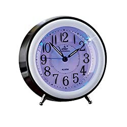 Collections Etc Radio-Controlled Atomic Alarm Clock with Light