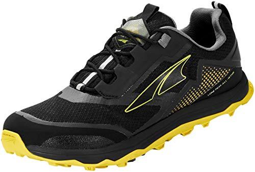 ALTRA Men's AL0A4VQG Lone Peak All-WTHR Low Trail Running Shoe, Black/Yellow - 15 M US