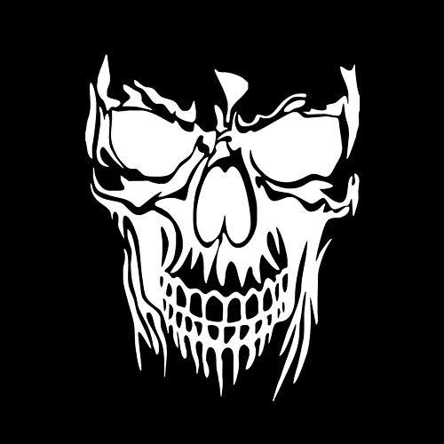 tonywu Car Sticker Decal Creative Persönlichkeit Thriller Horror Skull Head Reflektierende wasserdichte Sonnencreme Körper Glasaufkleber Tür Pull 22.4X28CM B 2PCS