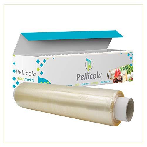 Virsus 6 Pellicole Alimenti 300 Pellicola Trasparente Metri Rotolo Alimentare Professionale con Box