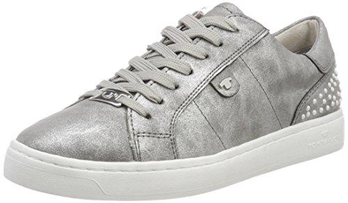 TOM TAILOR Damen 4892619 Sneaker, Silber (Silver), 38 EU