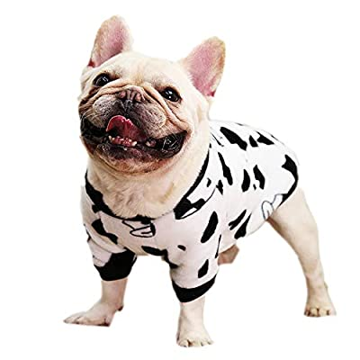 Pet Clothes, Dog Winter Pajamas Lovely Dog Coats Warm Cold Weather French Bulldog Sweater for Cats Puppy Small Medium Dogs (XL-White)