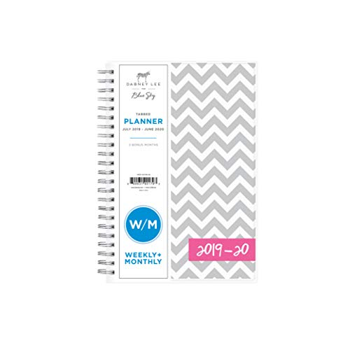 "Dabney Lee for Blue Sky 2019-2020 Academic Year Weekly & Monthly Planner, Flexible Cover, Twin-Wire Binding, 5"" x 8"", Ollie"