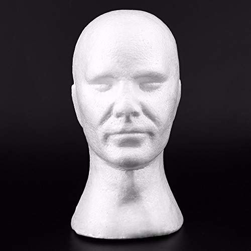 Homme Lisse Modèle de tête Perruque Mannequin Chapeau Lunettes Casquettes Affichage Bubble Head avec Oreilles Mannequin