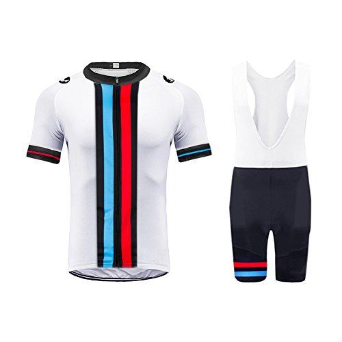 Uglyfrog Completo Uomo Maglia Ciclismo Abbigliamento Estivo da Bici Manica Corta e Pantaloncini Confortevole Traspirante DTMX03F