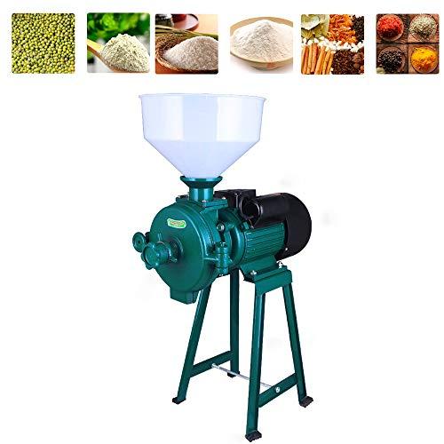 Mahlmaschine Fräsmaschine für elektrische Futtermühle Trocken Getreide Schleifmaschine für Kornkörner Reis Nüsse Gewürze Getreide Kräuter Mühle 220V (Grün)